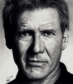Rick Fortson drawing of Harrison Ford.