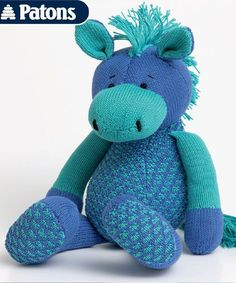Free Toy Horse Knitting Pattern to make with matching striped sweater by Patons! Size: inches) Skill Level: Experienced This pattern is no longer available. Knitting For Kids, Free Knitting, Knitting Projects, Baby Knitting, Knitting Toys, Knitting Ideas, Animal Knitting Patterns, Stuffed Animal Patterns, Doll Patterns