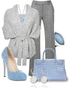 blue dress collocation for women