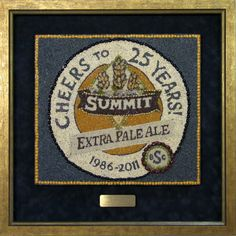 Summit Brewing Seed Art in a shadowbox 2224c1954