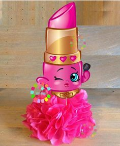 Lipstick centerpieces by LizsPartyDesigns on Etsy