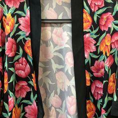 d8bb93ea3 Vintage floral robe - Tulips Robe comes worn build in ties - Depop #Tulips #