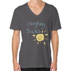 Everything Sucks (Smaller) V-Neck (on man) Shirt