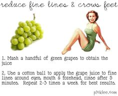 reduce fine lines and crows feet home remedy
