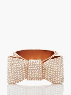 Kate Spade 'all wrapped up pave bow cuff'
