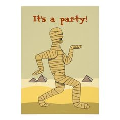 Shop Funny Egyptian Mummy Halloween Party Invitations created by alinaspencil. Personalize it with photos & text or purchase as is! Halloween Sayings For Cards, Halloween Quotes, Egyptian Themed Party, Halloween Cartoons, Funny Halloween, Vintage Halloween, Happy Halloween, Egyptian Mummies, Horrible Histories