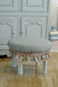 How to Make an Ottoman from an Old Table