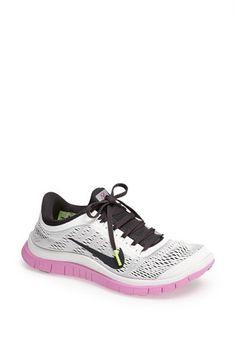 Nike 'Free 3.0 v5' Running Shoe (Women) Summit White/ Anthracite