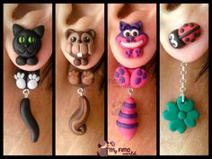 zarcillos. Polymer clay earrings.