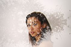 double exposure idea but I would do this in winter with a fur hat.