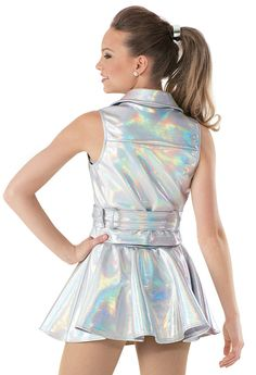 Weissman™ | Moto Hologram Vest and Skirt
