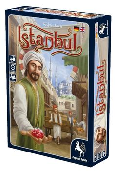 Become a merchant in a Turkish bazaar in the new board game Istanbul - winner of expert game of the year 2014 #boardgames #Istanbul