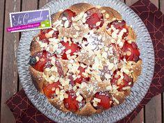 Tarte Noisettine aux Prunes Cheesecakes, Vegetable Pizza, Fruit, Vegetables, Food, Salads, Plum Tree, Food Porn, Pie