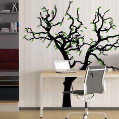 Wandtattoo  -  Baum und Blätter