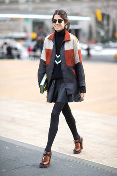 Ostwald Helgason jacket on Leandra Medine. On sale at GRACE now! #manrepeller