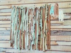 Boho Chic Long Curtains Teal White and Sand door TheTradingStage