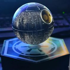 Death Star Levitating Bluetooth Speaker: This Is No MOON! :http://coolthingstobuyfor.com/death-star-levitating-bluetooth-speaker/