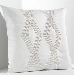 1 Simply Vera Wang Pillow Sham w// Stitching Standard ~ Charcoal Gray ~ 20 x 26