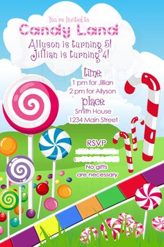 candyland invitations printable Candyland Printable Birthday