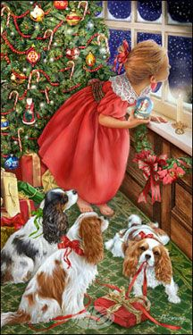 Cavalier King Charles Christmas cards are 8 x 5 and come in packages of 12 cards. One design per package. All designs include envelopes, your personal message, and choice of greeting. Christmas Puppy, Old Christmas, Christmas Scenes, Old Fashioned Christmas, Christmas Animals, Vintage Christmas Cards, Christmas Pictures, Xmas, Illustration Noel