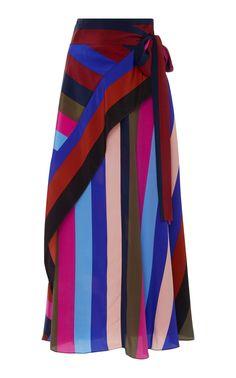 Abi! Charleston! Ditto ❤️Draped Wrap Maxi Skirt by DIANE VON FURSTENBERG for Preorder on Moda Operandi