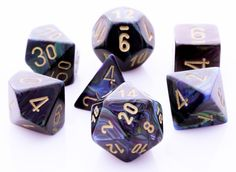 Lustrous Dice (Shadow) RPG Role Playing Game Dice Set