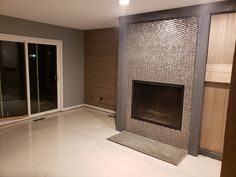 Eden Mosaic Tile Stainless Steel Bricks And Gray Basalt Stone Mosaic Tile - Stone Mosaic Tile, Mosaic Tiles, Fireplace Surrounds, Fireplace Design, Basalt Stone, Tile Installation, Kitchen Photos, Color Tile, Tub