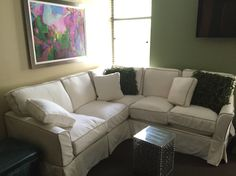 "Sofa is 93"" square sectional"
