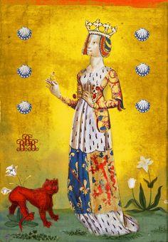 Béatrice de Bourgogne et Dampierre Dame de Bourbon