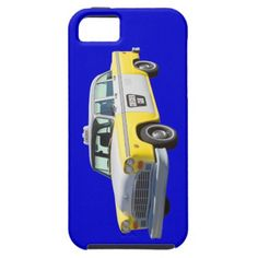 Yellow and White Checkered Taxi Cab iPhone 5 Cover