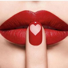 Love is in the air! Celebrate Valentine's Day with our iconic 999 red: Rouge Dior 999 & Dior Vernis Makeup by Lip Gloss Colors, Lipstick Colors, Red Lipsticks, Lip Colors, Lipstick Designs, Makeup Designs, Art Designs, Makeup Ideas, Red Nails