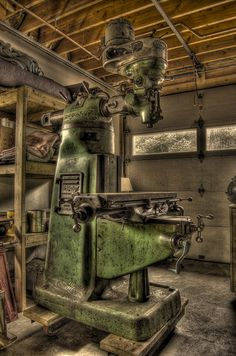 More real deal: Bridgeport milling machine (built in 1948). From ideas to reality in metal work