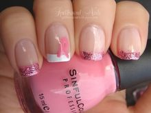 Simple and elegant Breast Cancer Awareness nails anyone can do. :)  http://spellboundnails.blogspot.com/2012/10/blog-pink.html
