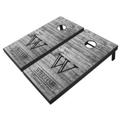 Rustic Barn Wood Country Family Name Monogram Grey Cornhole Set - tap/click to personalize and buy #CornholeSet #personalized #cornhole #game #set, #custom Rustic Barn, Barn Wood, Old Fashioned Games, Fun Outdoor Games, Cornhole Game Sets, Cross Beam, Family Fun Night, Diy Wedding Projects, Wedding Ideas