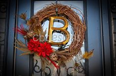 Gold/Red/Leopard Wreath=perfection!