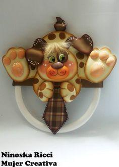 Moldes Gratis Perrito guarda corbatas Perrito guada corbatas hecho en goma eva. Un regalo original para regalarle a papá, en el día del padre Creditos | Mu