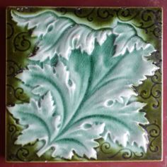 Antique English art nouveau tile by.... MALKIN