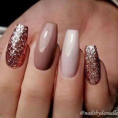 A manicure is a cosmetic elegance therapy for the finger nails and hands. A manicure could deal with just the hands, just the nails, or Stylish Nails, Trendy Nails, Elegant Nails, Ongles Beiges, Nagellack Design, Best Acrylic Nails, Autumn Nails Acrylic, Fall Gel Nails, Cute Nails For Fall