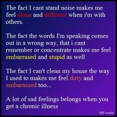 Feelings of chronic illness shame thats how i feel