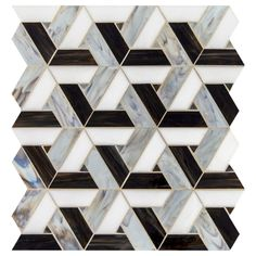 Daltile Vivify - x Trapezoid Mosaic Wall Tile - Glossy Marble Midnight Dream Flooring Tile Mosaic Mosaic Wall Tiles, Bathroom Floor Tiles, Tile Floor, Bathroom Wall, Glass Design, Tile Design, Floor Patterns, Quilt Patterns, Marble Floor