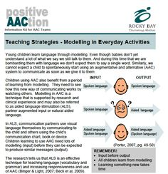 LOVE THIS! From PrAACtical AAC toolbox. Teaching Strategies-Modeling in Everyday Activities