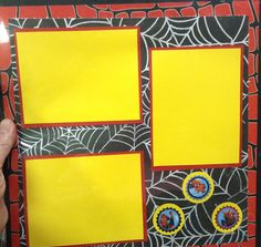 Scrapbook page layout for superhero theme. Ready for Spiderman costume pictures