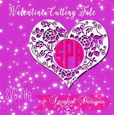 Valentines SVG Cutting File Valentine SVG by SparkalDigitalDesign #SVGFile