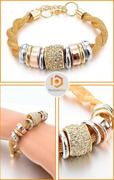 OUR BRAND NEW AND GORGEOUS ENTWINED GOLD METAL BRACELET WITH RING ACCENTS AND CRYSTALS IS HERE! JUST RELEASED AND GETTING AMAZING REVEIWS. SHOP NOW!