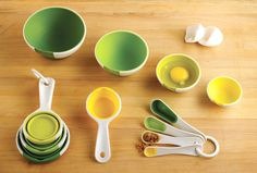 New Product Line in stock: Chef'n is a new line of housewares products featured on The Chew! We now carry a wide selection, including these Sleekstor Pinch Prep Bowls and Measuring Cups & Spoons!