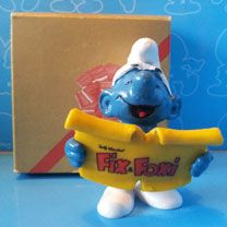 fix and foxi promo smurf with original box