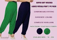 Ethnic Bottomwear - Patiala Pants Women fashoin styles dhoti patiyala Fabric: Viscose Rayon Multipack: 2 Sizes:  34 (Waist Size: 34 in Length Size: 40 in)  36 (Waist Size: 36 in Length Size: 40 in)  Country of Origin: India Sizes Available: 34, 36, 38, 40   Catalog Rating: ★4 (452)  Catalog Name: Feminine Women Patialas CatalogID_2190926 C74-SC1018 Code: 913-11615796-447