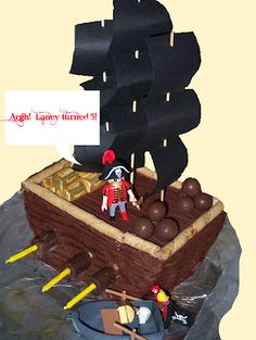 pirate cake. I like the candles on the side