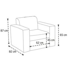 sofa chair measurements - Google Search
