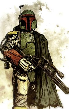 Boba Fett  Art by Tristan Jones, Colours by JLundahl